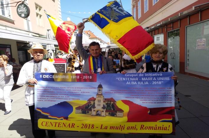 """Drapelul tricolor """"CENTENAR – MAREA UNIRE – ALBA IULIA – 2018"""""""