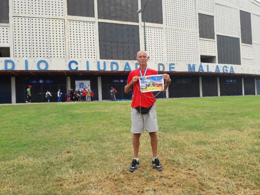 Rezervistul militar VASILE HÂRJOC a reprezentat cu cinste Grupul de Inițiativă din Alba Iulia la Campionatul Internațional de Atletism Masters – Malaga – 2018