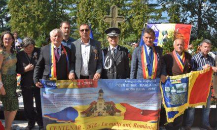 """Grupul de Inițiativă """"Centenar – Marea Unire – Alba Iulia – 2018"""" a fost prezent la """"SERBĂRILE NAȚIONALE – ȚEBEA 2018"""""""
