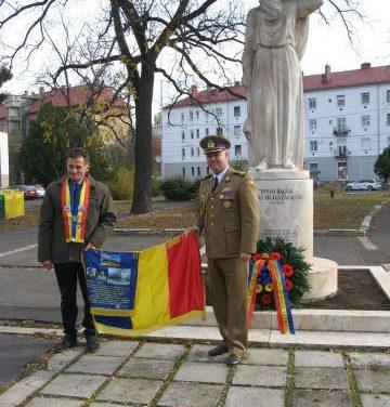 De Ziua Armatei Române – Grupul de Iniţiativă din Alba Iulia, la comemorarea eroilor români de la Debreţin