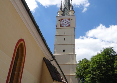 39. Turnul trompetilor din Medias, luat ca reper de Vasile Niculescu