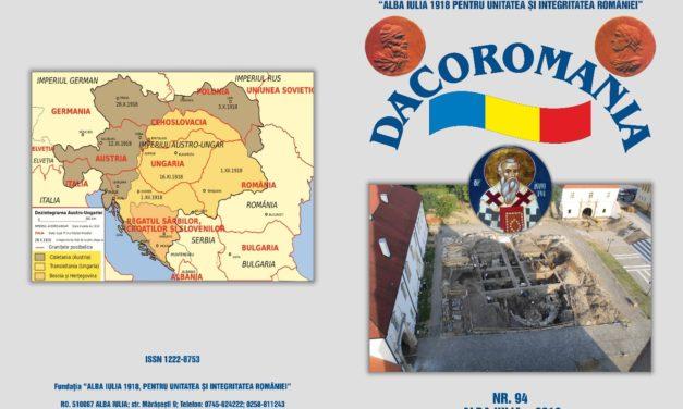 """A apărut numărul 94/2019 al revistei """"DACOROMANIA"""""""
