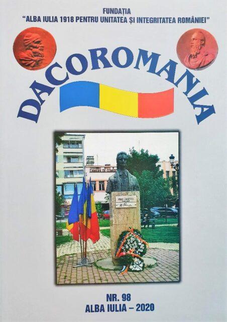 """A apărut numărul 98/ 2020 al Revistei """"DACOROMANIA"""""""