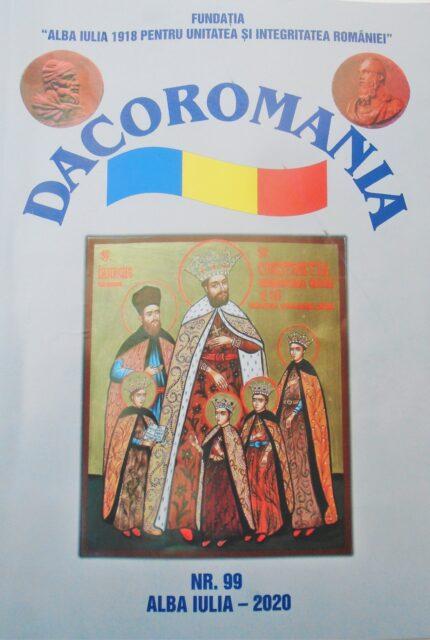 """La începutul lunii noiembrie 2020, a apărut nr. 99 al revistei """"DACOROMANIA"""""""